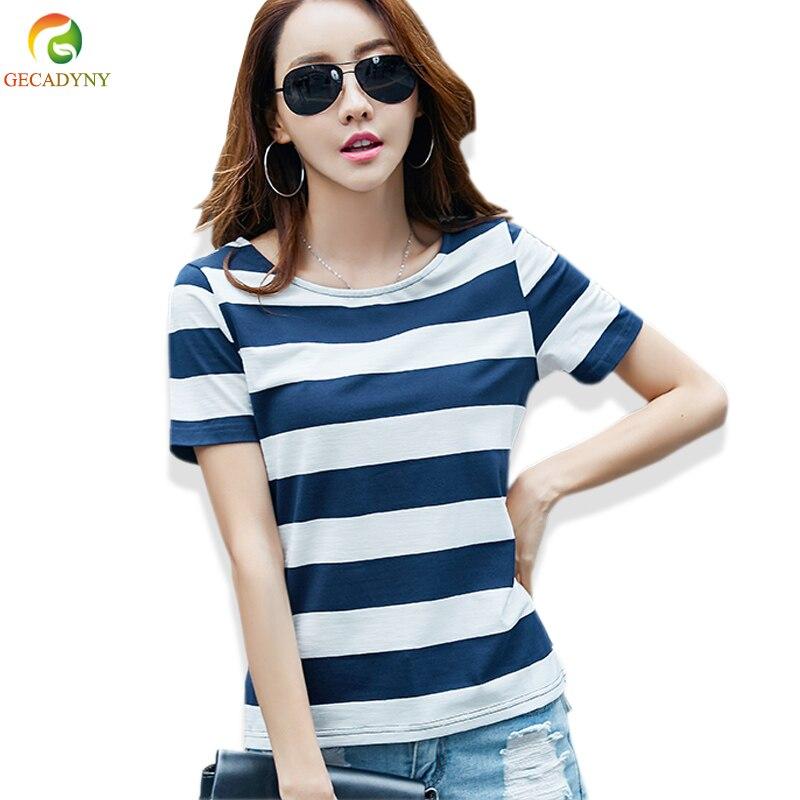 2019 Summer Women T Shirt 50 Fabulous Ladies 50th Birthday: 2019 Summer Fashion Hit Color Striped Female T Shirt Loose