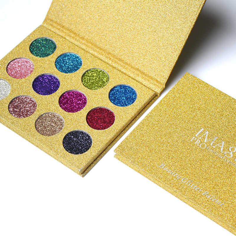 Imagic Oogschaduw 12 Kleuren Palet Glitter Geperst Glitters Oogschaduw Diamant Regenboog Cosmetische Geperst Oogschaduw Make Up