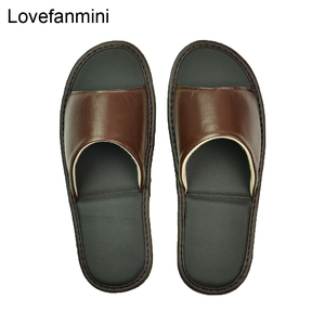 Image 4 - หนัง Sheepskin แท้รองเท้าแตะคู่ Indoor Non SLIP ผู้ชายผู้หญิงหน้าแรกแฟชั่นแบบสบายๆรองเท้าเดี่ยว PVCsoft soles ฤดูใบไม้ผลิฤดูร้อน
