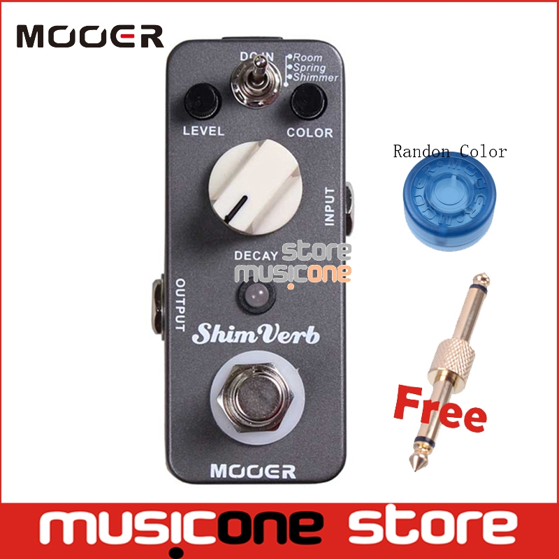 Prix pour Mooer shimverb shim verbe reverb effet guitare pédale compact pédale true bypass 3 reverb modes avec pédale connecteur et bouton