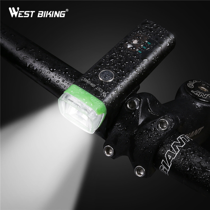 WEST BIKING Cycling Intelligent Light Sensitive Light USB Rechargeable Waterproof Front Lamps Handlebar Flashlight Bicycle Light туфли nine west nwomaja 2015 1590