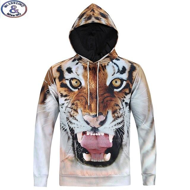 15-20 anos adolescentes marca menino moletom com capuz meninos design de moda tigre 3D impresso moletom com capuz hip hop estilo do inverno hoody MH12