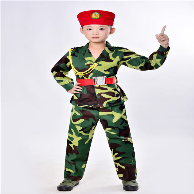 Teen Military Costume for Kids Short Sleeve Green Camouflage Shirt + Hat + Belt Army Pants for Boys Cool Kids Outfits  sc 1 st  Aliexpress & Online Shop Teen Military Costume for Kids Short Sleeve Green ...