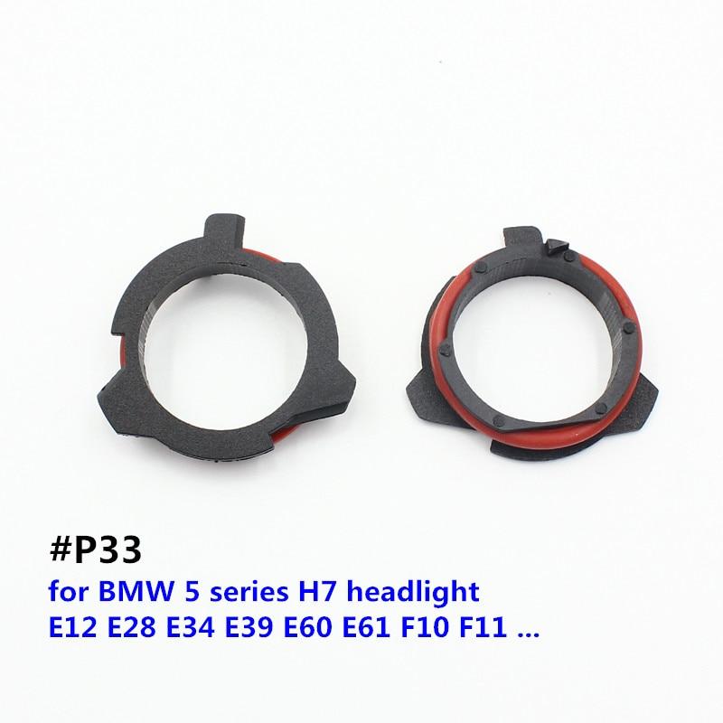 FSYLX H7 LED Adapter For BMW 5 Series E12 E28 E34 E39 E60 E61 F10 F11 Car H7 LED Headlight Bulbs Adapter Base Holder H7 Adaptors