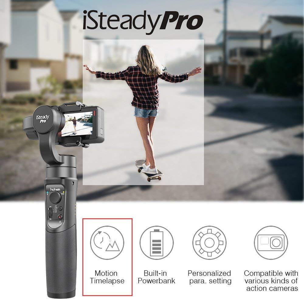 Hohem iSteady Pro 3-Axe stabilisateur de cardan pour GoPro Hero 7 6 5 4 3 Yi 4 K, caméra d'action RXO AEE SJCAM, 3-Axe GoPro Cardan - 2