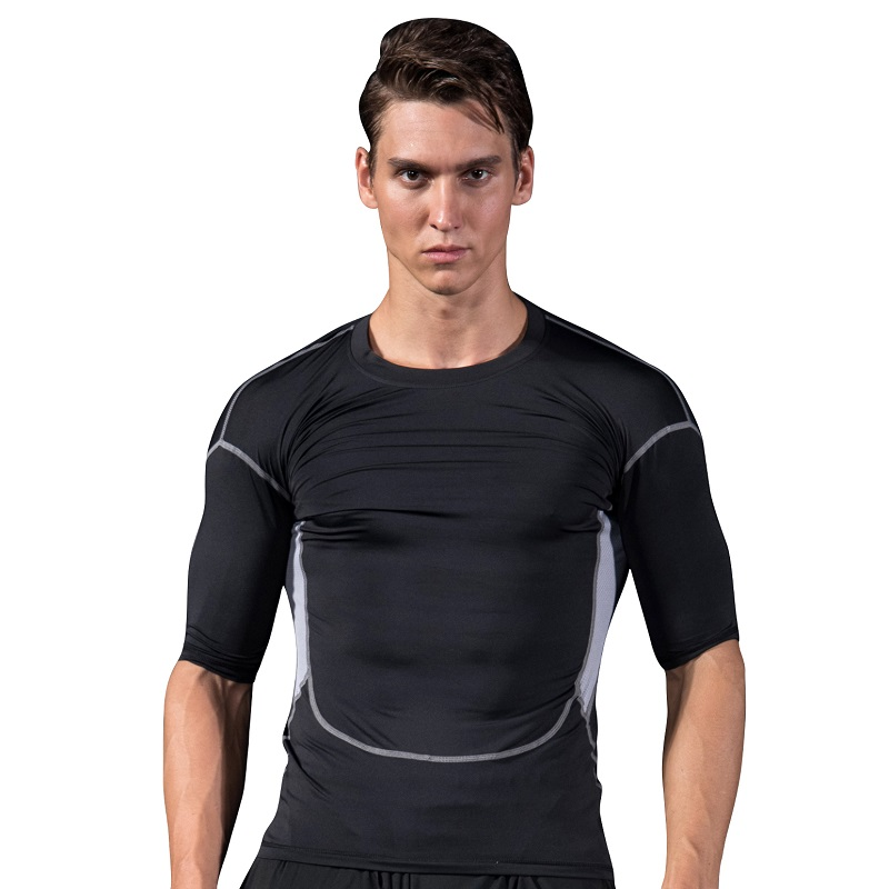Man Summer Breathable Quick Dry Anti-uv T-shirt Men Outdoor Sport Hiking Camping T Shirt Fishing Running Shirt
