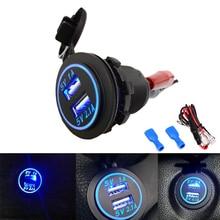 Двойной Автомобильный USB адаптер зарядное устройство гнездо для VW для Iphone Samsung 4.1A Мини Автомобильное зарядное устройство прикуриватель автомобильное зарядное устройство 12 В 24 В