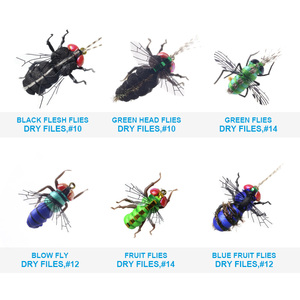 Image 3 - Realistic Mosquito House Fly Fishing Flies Set  60 pcs  Insect Baits for Trout Muskie  Dry Fly Lure Kit Flyfishing