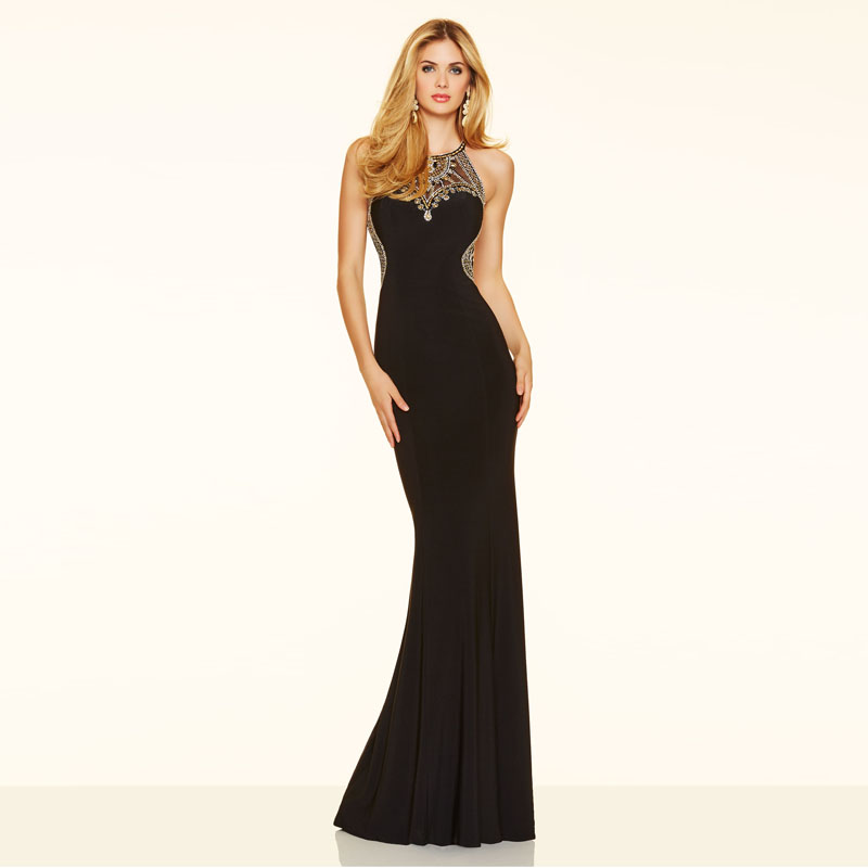 Latest Design Chiffon Fabric Mermaid Halter Neck Ladies Prom Dresses  Evening Party Dresses Wholesale Online 2016 Prom Party Gown-in Evening  Dresses from ... 2182d98a1a93