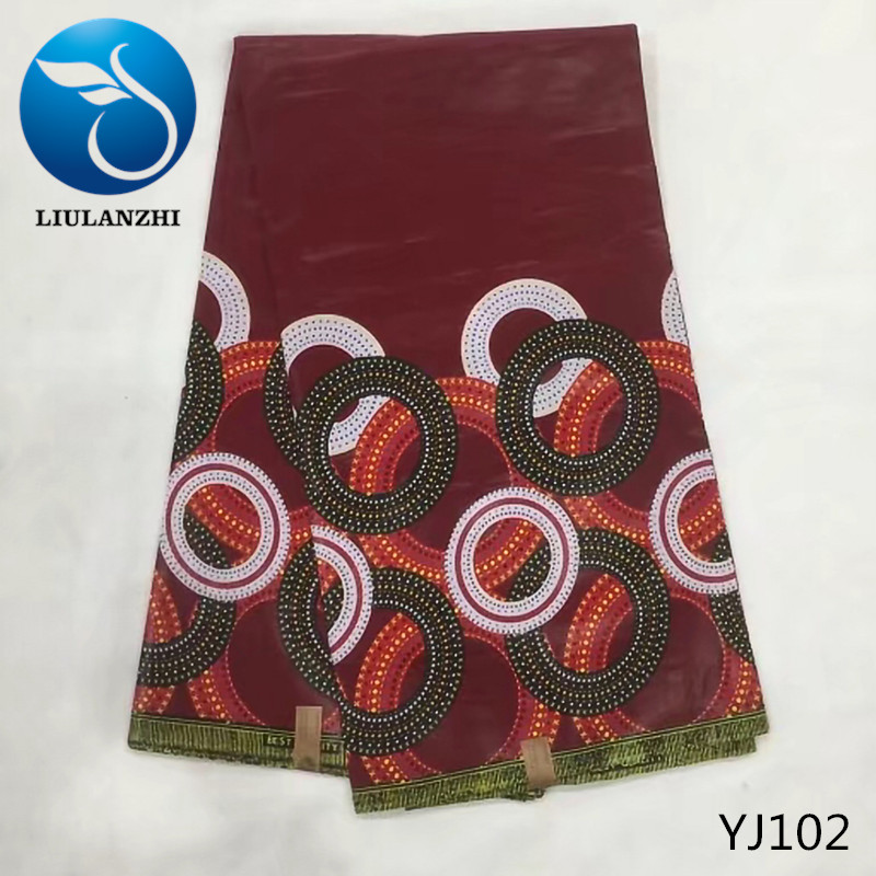 LIULANZHI Printing african Java wax fabric High quality nigerian dreess cotton wax fabric veritable batik fabric YJ84-YJ105