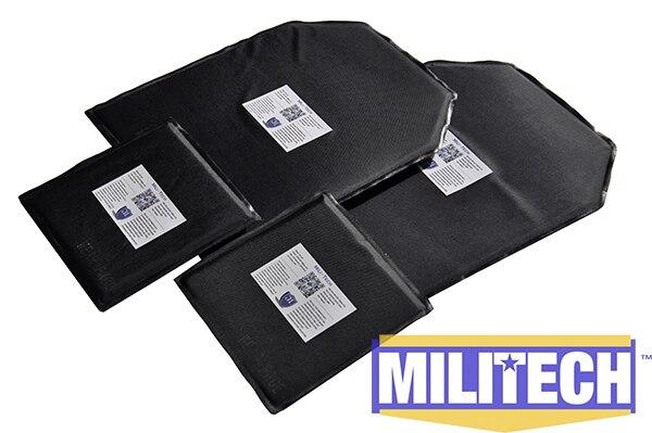 ФОТО Bulletproof Aramid Ballistic Panel Bullet Proof Plate Inserts Body Armor Soft Armour NIJ Level IIIA 3A 10 x 12 & 6 x 6 Pairs