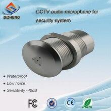 SIZHENG Outdoor CCTV audio mic aluminium alloy material sensitivity -40dB for security system broadband agc bandwidth maximum 150m vca810 40db to 40db automatic control manual program controlled