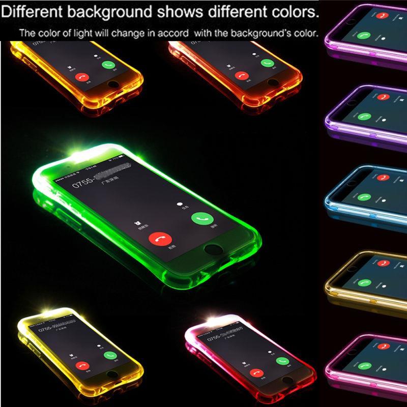 For Samsung Galaxy A3 A5 A7 A8 A9 J1 J2 J5 J7 2015 2016 Note 4 5 S7 S6 Edge Plus Led Light Flash Calling Notice Phone Case Cover