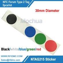 5 шт. Ntag215 Стикеры с 5 цветной печати NTAG215 этикетки NFC Стикеры NTAG215 тег для tagmo