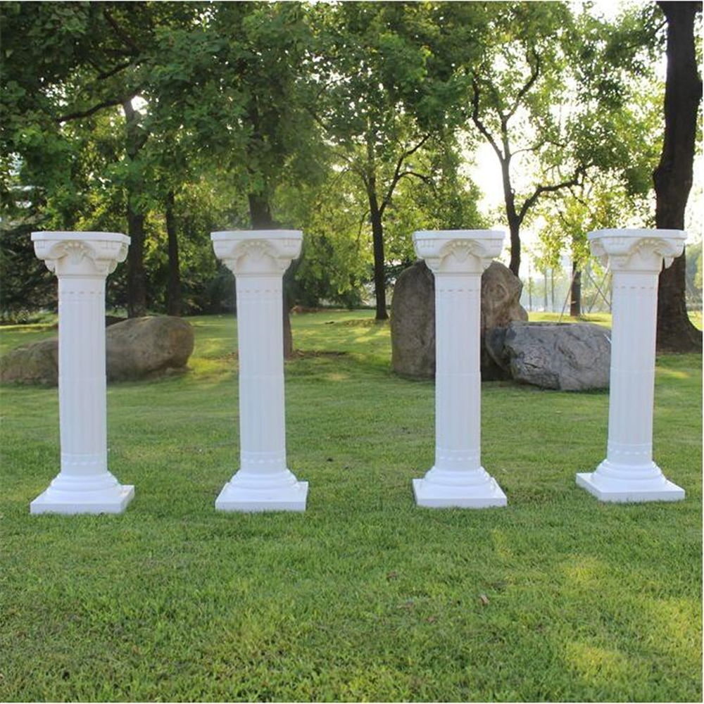 European Style Roman Columns White Color Plastic Pillars