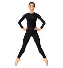 New Arrive Women's Unitard Yoga Sets Lycra Spandex Plus Size Full Bodysuit Dance Gymnastics Catsuit Adult Long Sleeve