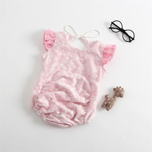 0-24m Kids Baby Girls Sleeveless cotton lace Romper Loose Jumpsuit Outfits Clothes Summer toddler Baby Clothing