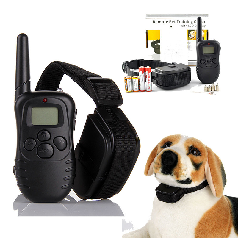 300m-remote-rechargeable-and-rainproof-100levels-vibration-shock-electronic-dog-training-collar