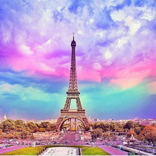 Paris Tower diy diamond painting mosaic making full round  embroidery