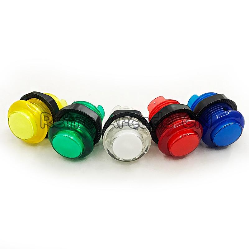 5 шт. аркадный стиль HAPP, 5 В, зажигающаяся кнопка с встросветодиодный Ной лампой, микропереключатель, доступно 5 цветов