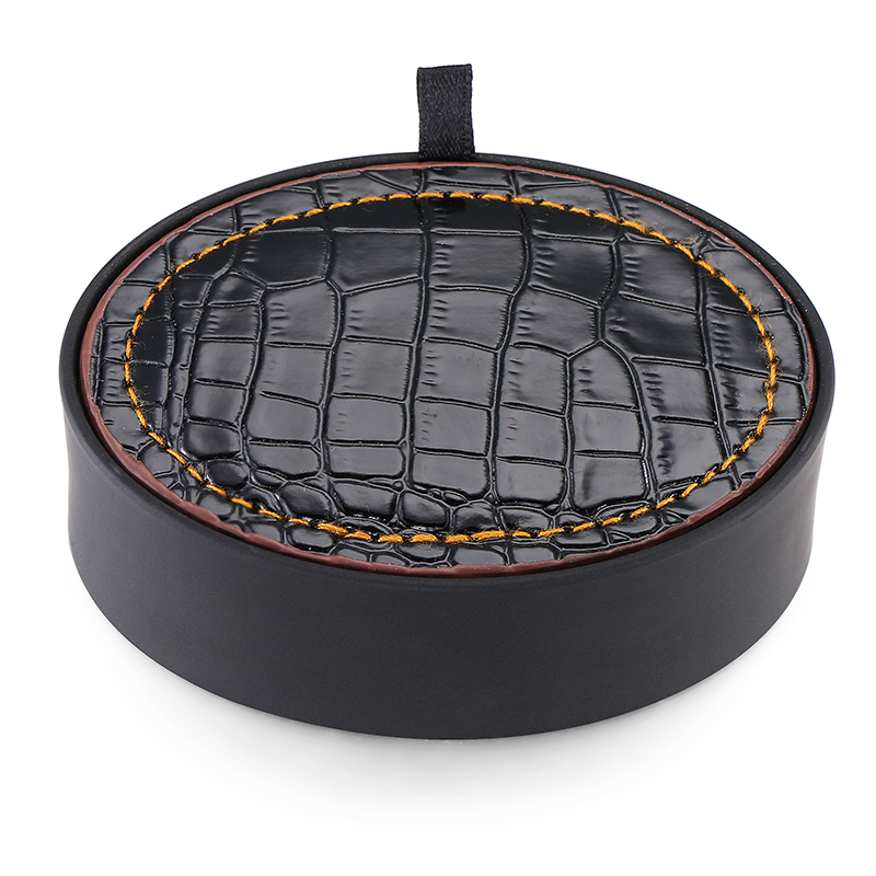 DY High quality brass Silver golf Cufflinks box set the fashion mens shirt Cufflinks black leather box set free shipping
