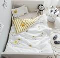 3 Pcs 100% Cotone Presepe Biancheria Da Letto Kit Cartone Animato Animale Camera da letto del bambino Set Include Federa Letto Copriletto Copripiumino Senza Filler
