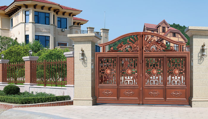Home Aluminium Gate Design / Steel Sliding Gate / Aluminum Fence Gate Designs Hc-ag3