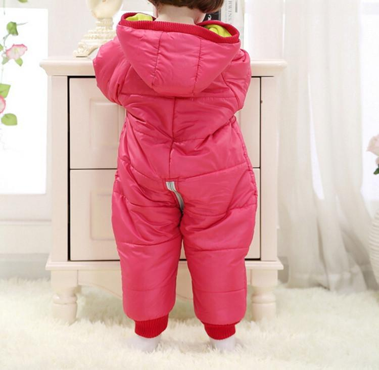 9-24Months Baby Winter Clothes Girl Boy Romper Warm Russian Baby Winter Jumpsuit Skiing Outerwear Clothing Colorful Snowsuit (15)