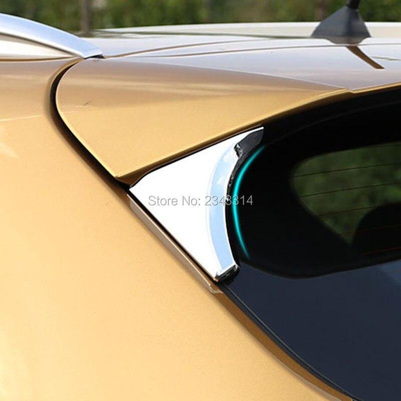 con 2 Wing Trangle per Kia Sportage QL 2016 2017 Spoiler posteriore ABS