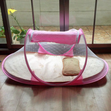 3PCS/Set Portable Hot Sale Baby Crib Type Comfortable Babies Pad with Sealed Mosquito Net + Mat + pillow Baby Mosquito Netting