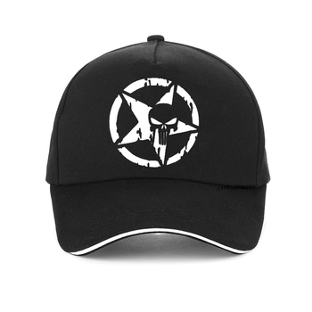 цена на Movie game punisher summer cap men women Five stars skull printed Baseball caps Frank Castle adjustable snapback hat gorras