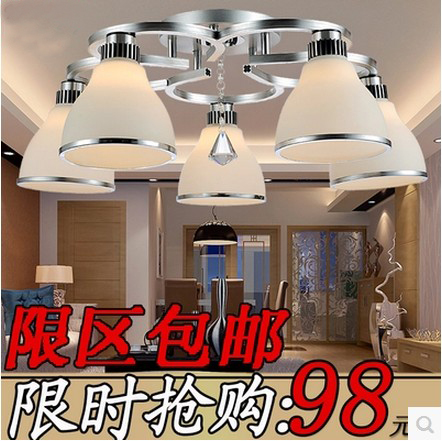 Modern brief led restaurant ceiling light crystal lamp dining table