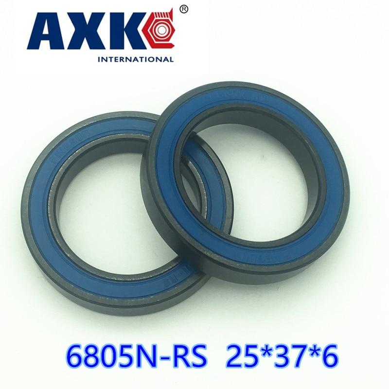 Axk 6805n-2rs 6805 Si3n4 Stainless Steel Hybrid Ceramic Bearing 25x37x6 6805n 25376 Bike Wheel Bottom Bracket Bearing Bb51 Ht2 free shipping wheel hub bearing 15267 2rs 15 26 7mm 15267 stainless steel si3n4 hybrid ceramic bearing