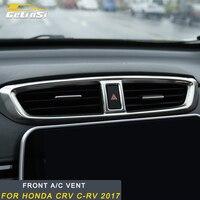 Gelinsi for Honda CRV C RV 2017 front A/C vent air condition vent frame Sitcker decoration trim cover Accessories Car Auto