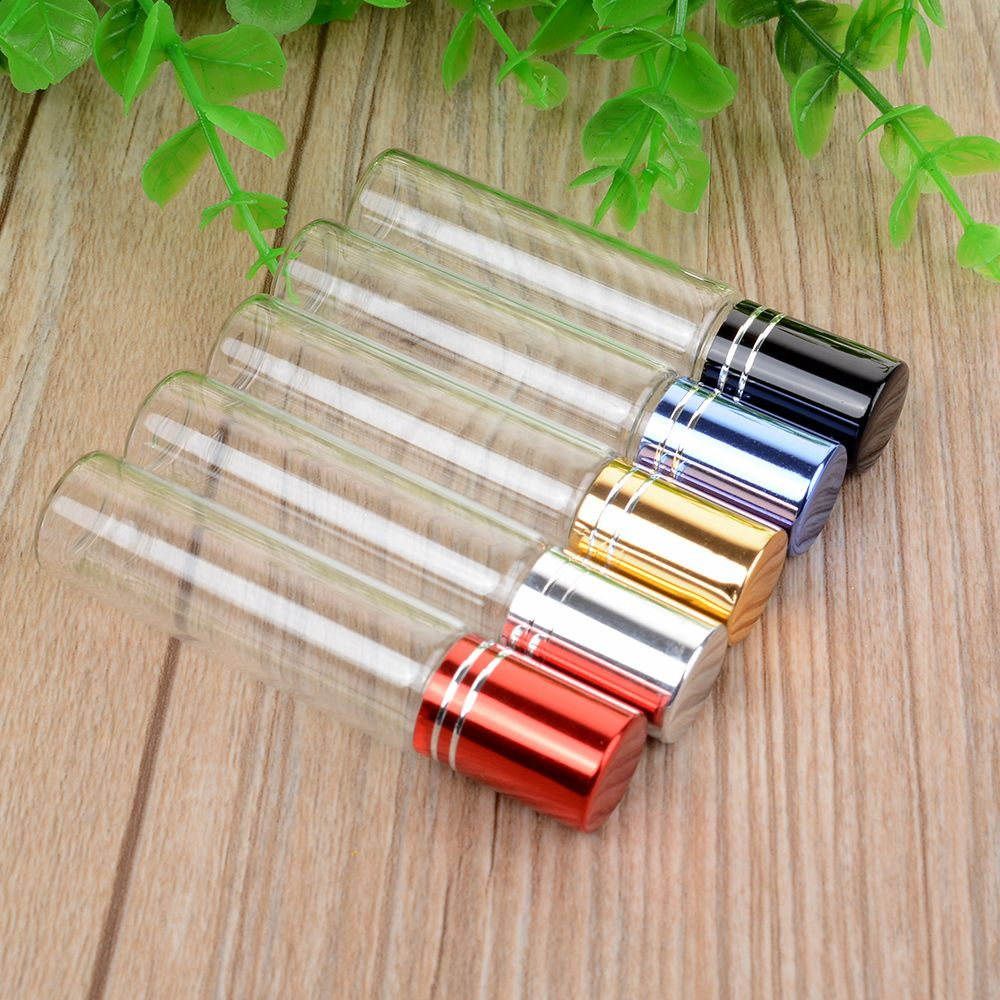 Hot Sale New 10ML  Portable Essential Oil Roll-on Glass Perfume Bottle Women Lady Travel Clear Roller Refillable Bottle Containe