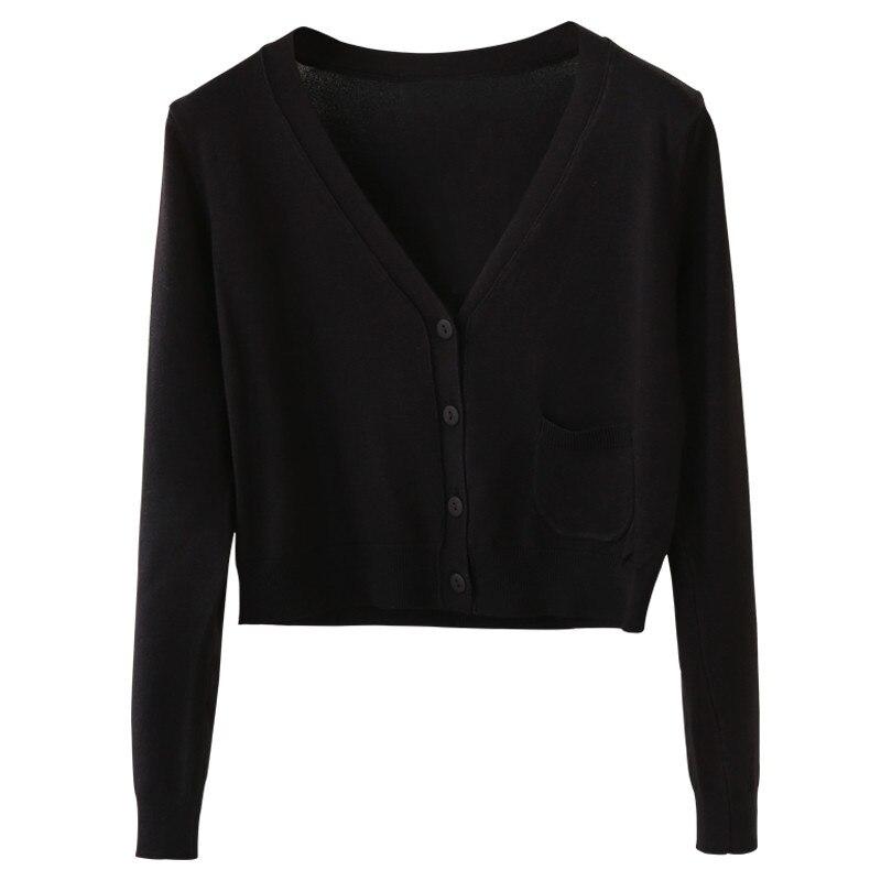 100% QualitäT 2019 Neue Ankunft Frühling Und Herbst Strickjacke Kurzen Mantel Lässig V-ausschnitt Langarm Strickjacken Pullover Dünne Mantel Weibliche Tops
