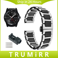 22mm correa de reloj de cerámica y acero inoxidable + removedor del acoplamiento para lg g reloj w100 w110 w150 urbano banda butterfly corchete correa de pulsera