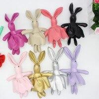 D'une seule pièce PU Doux jupe lapin Porte-clés pendentif, de mariage d'anniversaire De Noël party favor approvisionnement cadeaux pour les amis filles garçons enfants