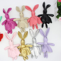 One Piece PU Soft Skirt Rabbit Keychain Pendant Wedding Birthday Christmas Party Favor Supply Gifts For