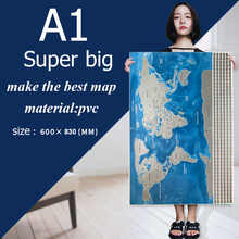 Waterproof Scratch Close Map World Map Best Decoration School Office Stationery - DISCOUNT ITEM  0% OFF All Category