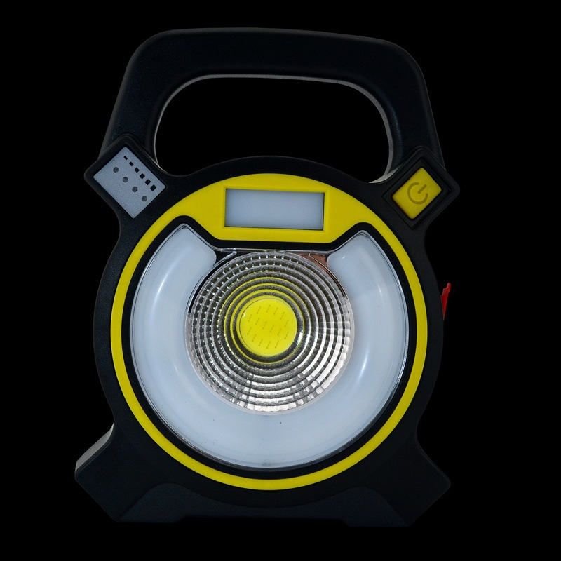 COB+LED Portable Outdoor Camping Lamp Maintenance Red Blue Light 18650 USB Lithium Battery Charging Function