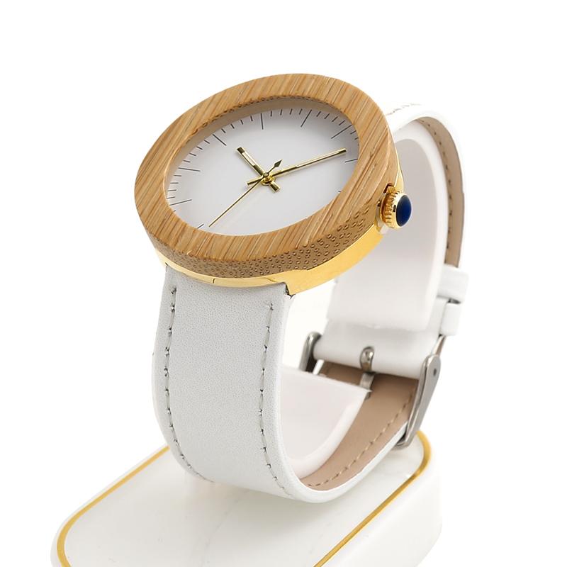 Women Bamboo Wood Watches Montre Femme Lady Quartz Wristwatch relogio feminino C-J27 (8)