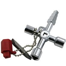 Ключ водопроводчик Многофункциональный поезд Лифт Квадратные аксессуары Универсальный электрический шкаф треугольный переключатель крест
