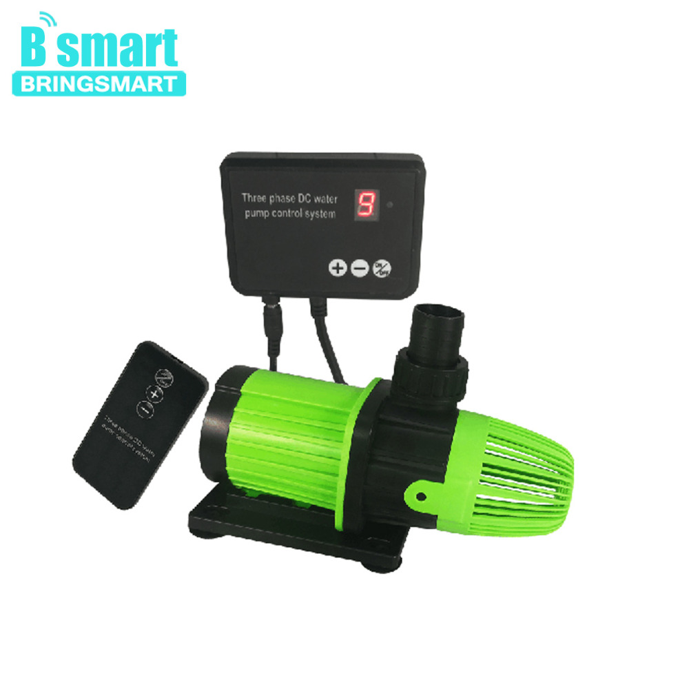 Bringsmart SR-5000S 24V 72W Submersible Aquarium DC Variable Frequency Water Circulation Pump 3.5-5M 3500-5000L/H Remote ControlBringsmart SR-5000S 24V 72W Submersible Aquarium DC Variable Frequency Water Circulation Pump 3.5-5M 3500-5000L/H Remote Control