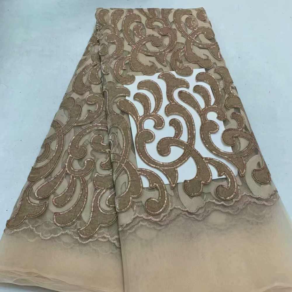 Cassiel najlepiej sprzedających się nigerii niebieski koronki tkaniny afryki aksamitna koronki tkaniny 2019 gipiury siatki materiału bawełnianego cekiny