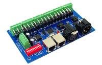 Melhor preço DC12-24V 1 pçs 18ch com rj45 18 canais dmx512 dmx led decodificador