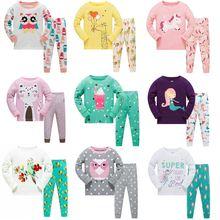 Новая брендовая Пижама с милым принтом для девочек детская пижама