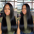 7a Brazilian Virgin Hair With Frontal Straight Hair With Pre Plucked Frontal Closure 18 Inch Lace Frontal And 3 Bundles Straight