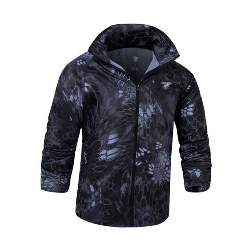 Tactical Camouflage Quick Dry Waterproof Anti UV Jacket Men Sports Fishing Climbing Sunscreen Breathable Hooded Skin Coat Tops цена