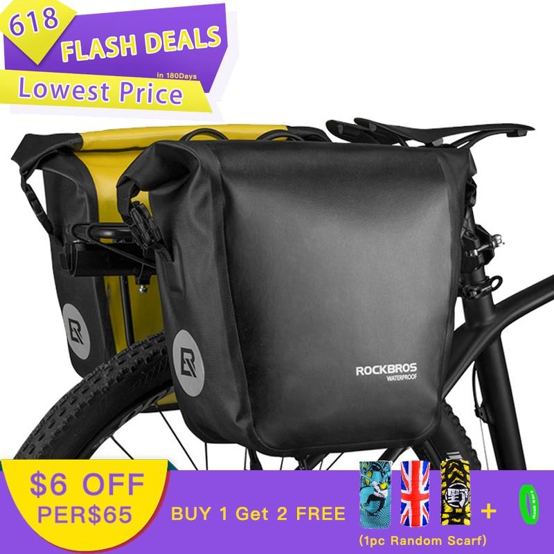 ROCKBROS sac de vélo Portable 10-18L sac de vélo étanche sacoche arrière Rack queue siège coffre Pack vélo vtt sac accessoires de vélo